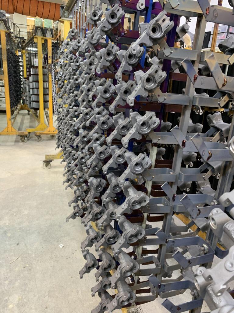 bastidor anodizado y tratamiento de aluminio