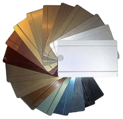 Paleta de colores aluminio